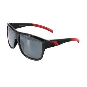 Basic Design Mens Sunglasses w/ Red Color Stripe